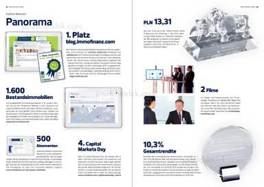 """Panorama, 1. Platz blog.immofinanz.com """"Smeil Award 2013"""", Bestandsimmobilien, Capital Markets Day"""