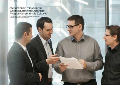 """Thomas Kurz, Project Manager for Material Development, voestalpine Stahl GmbH, Österreich: """"Wir eröffnen mit unseren Leichtbaustählen unzählige Möglichkeiten für die Zukunft."""""""