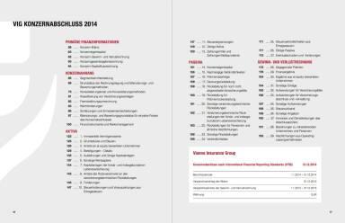 Vienna Insurance Group Konzernbericht 2014 - VIG KONZERNABSCHLUSS 2014