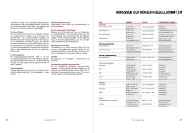 Vienna Insurance Group Konzernbericht 2014 - ADRESSEN DER KONZERNGESELLSCHAFTEN