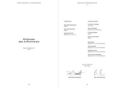 Semper Constantia Geschäftsbericht 2014 - Mitglieder des Aufsichtsrates