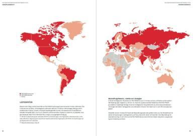 Palfinger Geschäftsbericht 2015 - Lieferanten Weltkarte