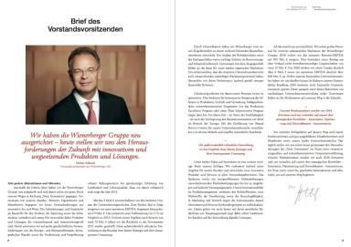 Wienerberger - Brief des Vortstandsvorsitzenden